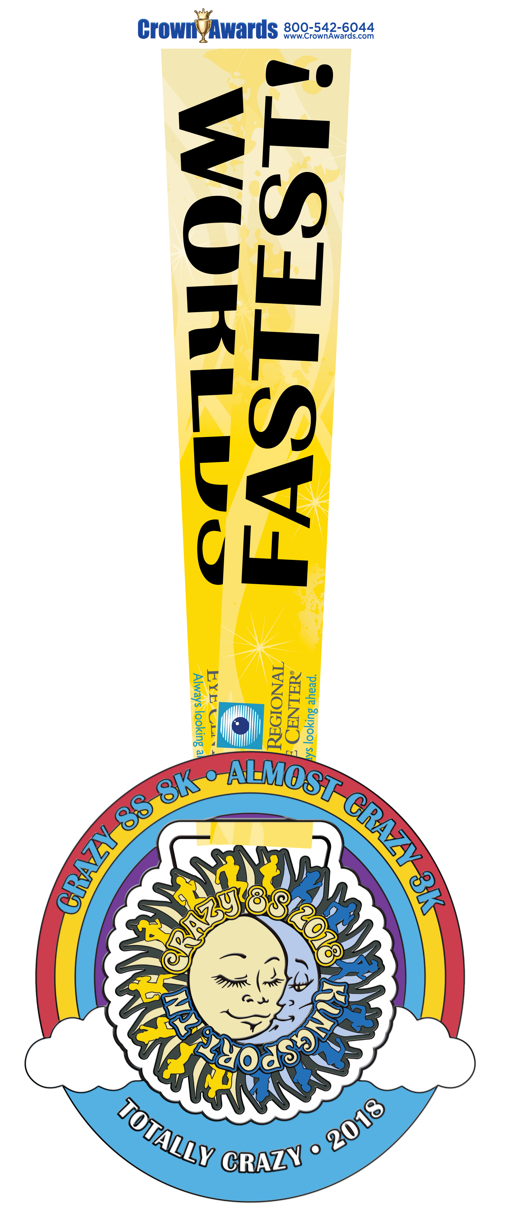 Crazy 8s 2018 Totally Crazy Medal