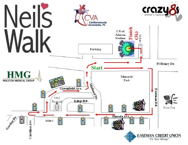 neils walk map