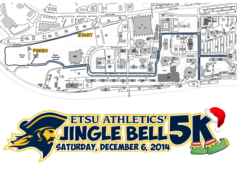 Buckys 5K Course Map
