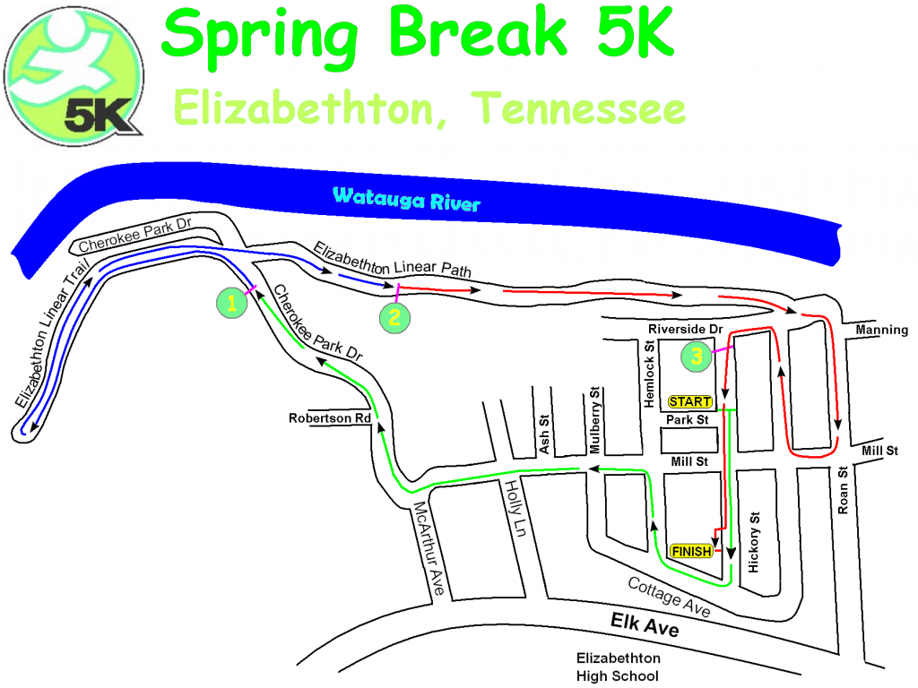 Spring Break 5K Map