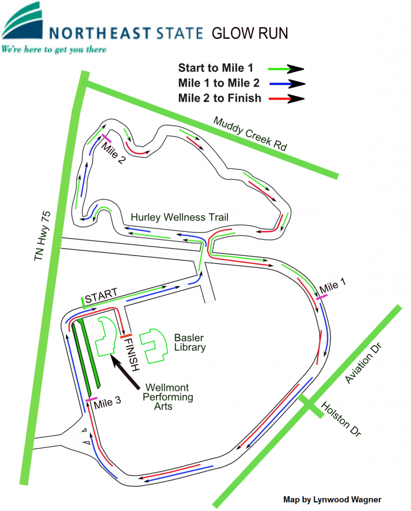 NE State 2016 Course Map